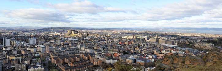 Edinburgh Skyline from Salisbury Crag