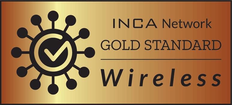 INCA Gold Standard Wireless branding