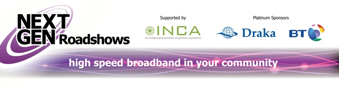 NextGen Roadshow banner, sponsored by Draka